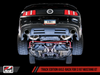 AWE Touring Edition Axle-back Exhaust for the S197 Ford Mustang GT - Chrome Silver Tips