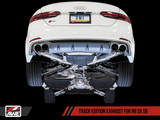 AWE Touring Edition Exhaust for B9 S5 Sportback - Resonated for Performance Catalyst - Carbon Fiber Tips