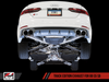 AWE Track Edition Exhaust for B9 S5 Sportback - Resonated for Performance Catalyst - Chrome Silver 90mm Tips