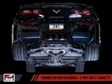 AWE Touring Edition Valveback Exhaust for C7 Corvette with AFM Valves - Stingray / Z51 Auto / GS Auto -- Chrome Silver Tips