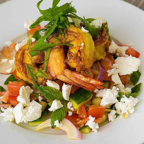 Golden Prawn Salad