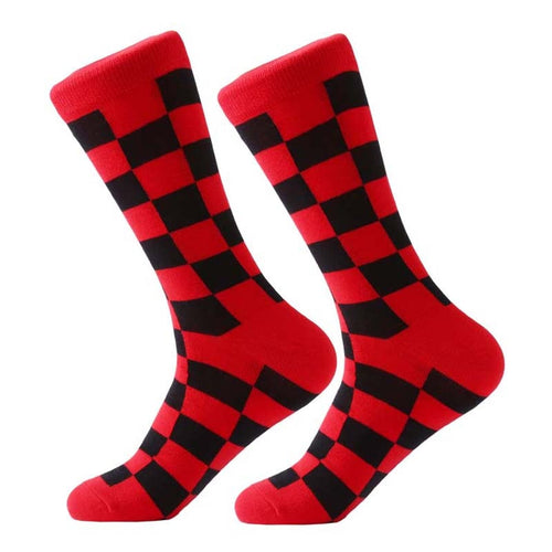 Red Checker Socks
