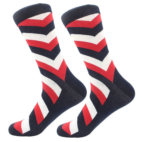 Red/Black Stripe Socks
