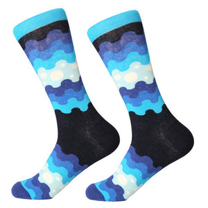 Blue Stack Socks