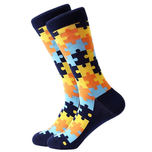 Puzzled Yellow Socks