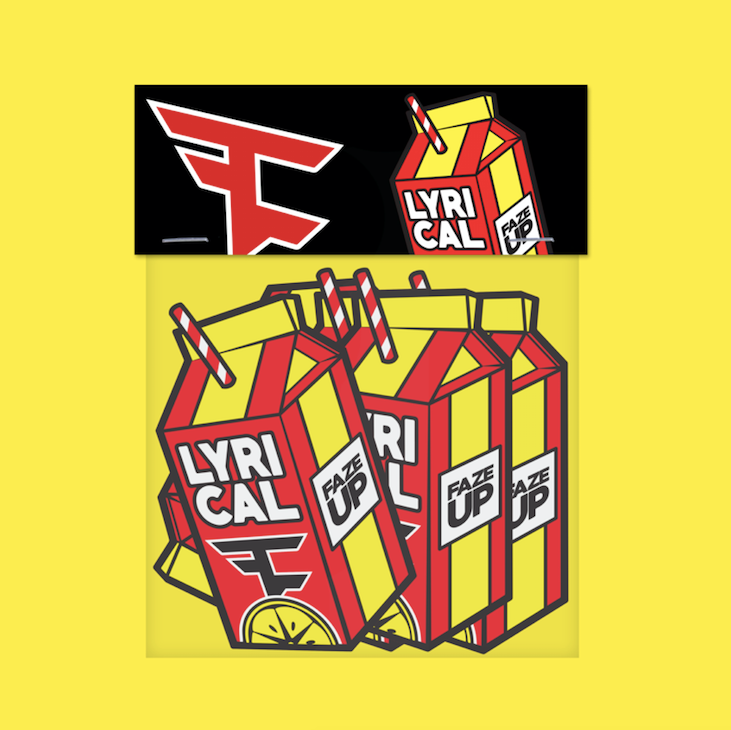 Lyrical Lemonade x FaZe Clan Carton Sticker Pack