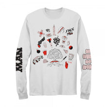Load image into Gallery viewer, Bomb Longsleeve White Tee