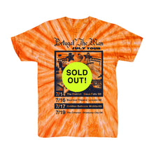 Load image into Gallery viewer, Orange Tie Dye Tour Tee