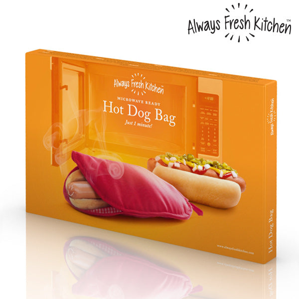 Always Fresh Kitchen Mikrowellen Kochbeutel für Hot Dogs