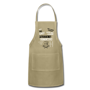 Personalized Adjustable Apron - khaki