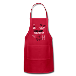 Personalized Adjustable Apron - red