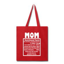 Load image into Gallery viewer, Mom Tote Bag - red
