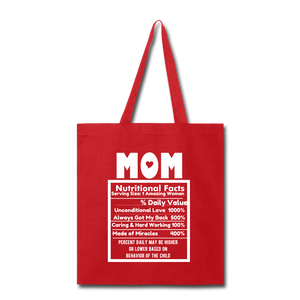 Mom Tote Bag - red