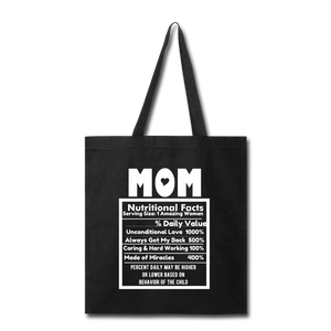 Mom Tote Bag - black