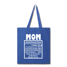 Load image into Gallery viewer, Mom Tote Bag - royal blue