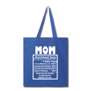Mom Tote Bag - royal blue