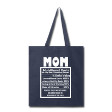Load image into Gallery viewer, Mom Tote Bag - navy