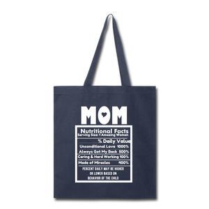 Mom Tote Bag - navy