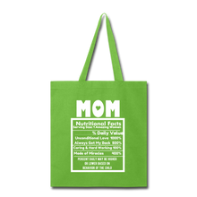 Load image into Gallery viewer, Mom Tote Bag - lime green