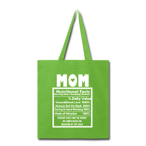 Mom Tote Bag - lime green