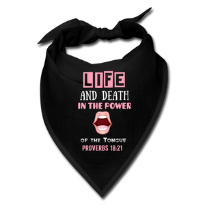 SPEAK LIFE Bandana - black