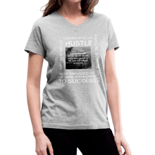 Load image into Gallery viewer, SUCCESS COLLECTIONS Women's V-Neck T-Shirt - gray