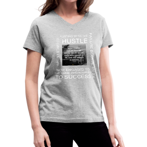 SUCCESS COLLECTIONS Women's V-Neck T-Shirt - gray