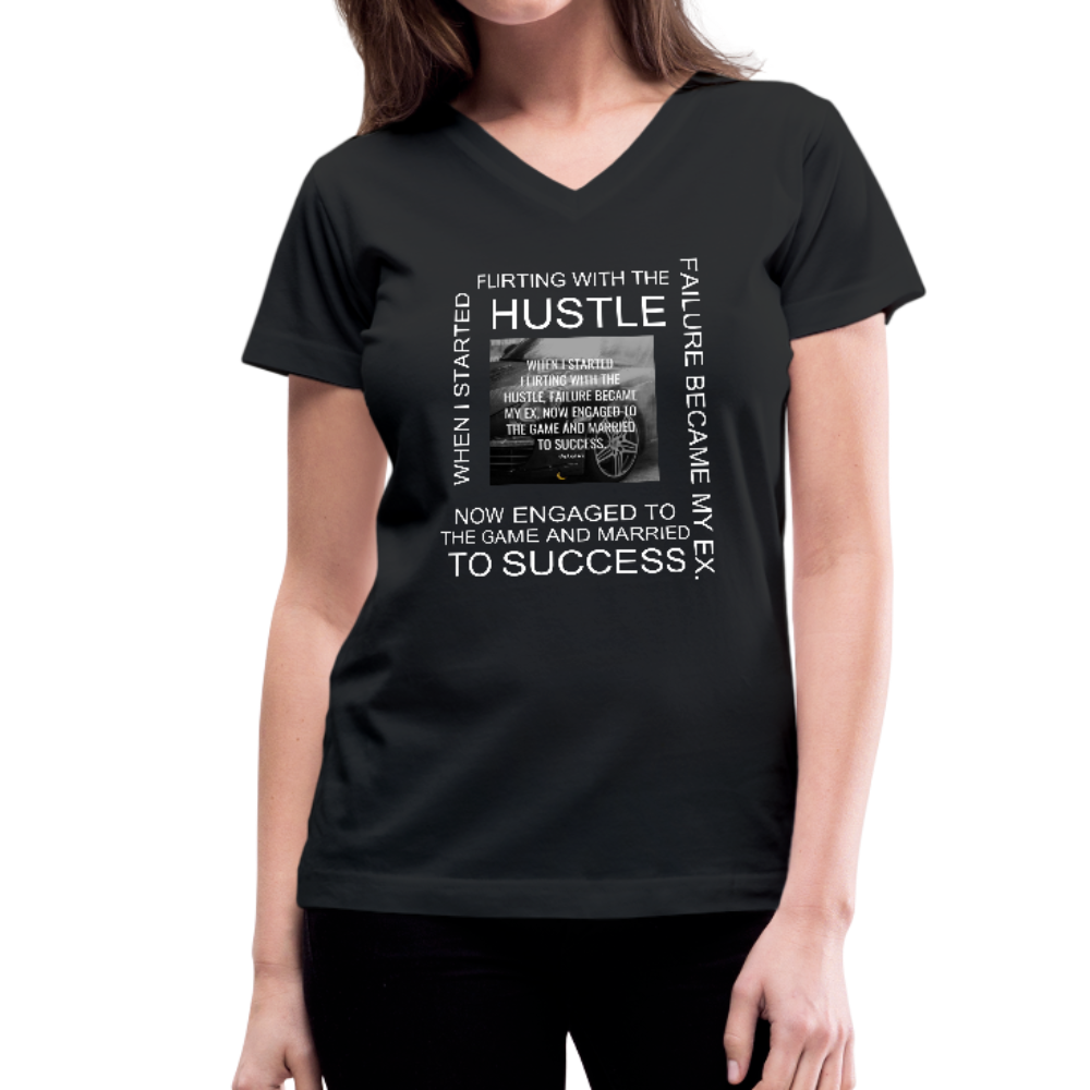 SUCCESS COLLECTIONS Women's V-Neck T-Shirt - black