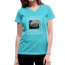 Load image into Gallery viewer, SUCCESS COLLECTIONS Women's V-Neck T-Shirt - aqua