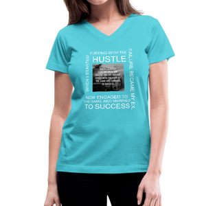 SUCCESS COLLECTIONS Women's V-Neck T-Shirt - aqua