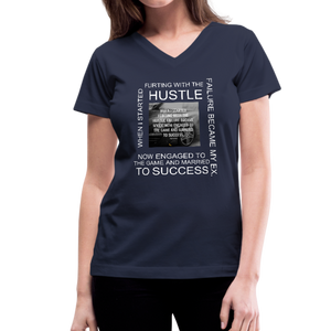 SUCCESS COLLECTIONS Women's V-Neck T-Shirt - navy