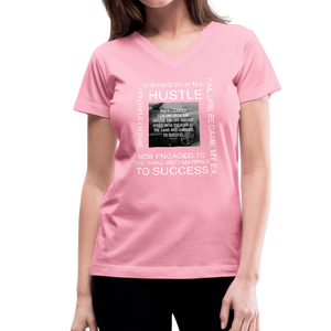 SUCCESS COLLECTIONS Women's V-Neck T-Shirt - pink