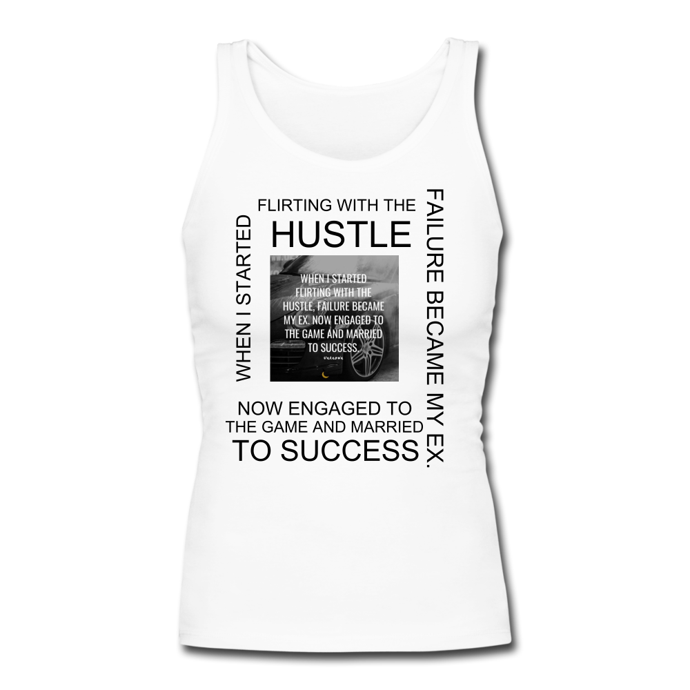 SUCCESS COLLECTION Women's Longer Length Fitted Tank - white