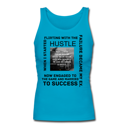 SUCCESS COLLECTION Women's Longer Length Fitted Tank - turquoise