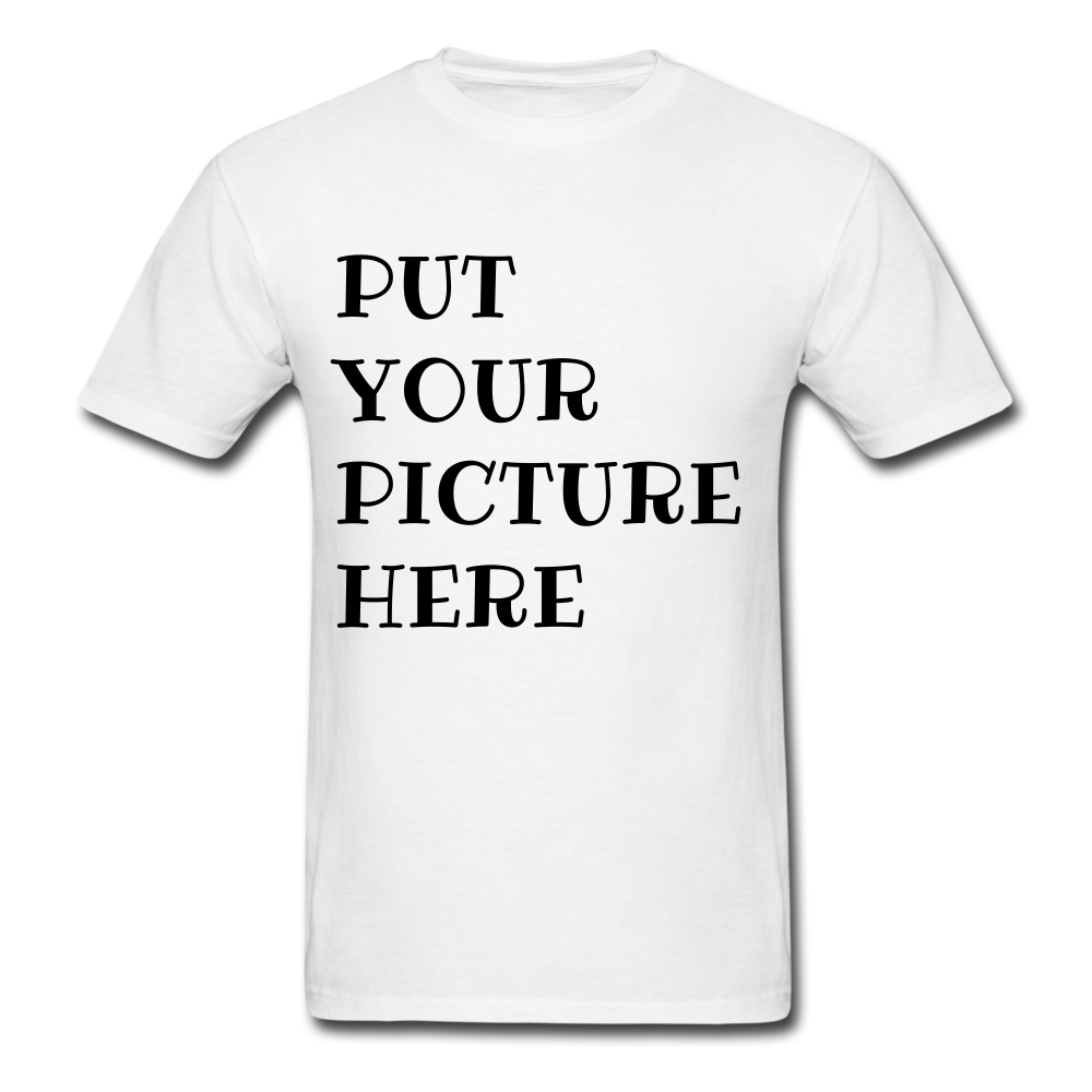 PUT YOUR PICTURE Unisex Classic T-Shirt - white