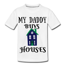 Load image into Gallery viewer, DADDY BUYS COLLECTION Kids' Premium T-Shirt - white