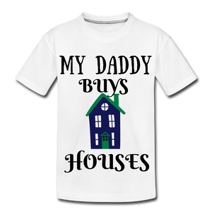 DADDY BUYS COLLECTION Kids' Premium T-Shirt - white