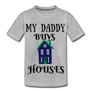 DADDY BUYS COLLECTION Kids' Premium T-Shirt - heather gray
