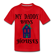 Load image into Gallery viewer, DADDY BUYS COLLECTION Kids' Premium T-Shirt - red
