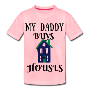 DADDY BUYS COLLECTION Kids' Premium T-Shirt - pink