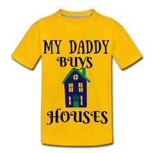 Load image into Gallery viewer, DADDY BUYS COLLECTION Kids' Premium T-Shirt - sun yellow