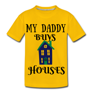 DADDY BUYS COLLECTION Kids' Premium T-Shirt - sun yellow