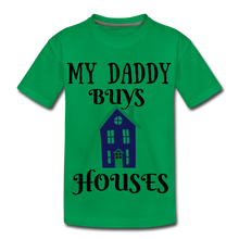Load image into Gallery viewer, DADDY BUYS COLLECTION Kids' Premium T-Shirt - kelly green
