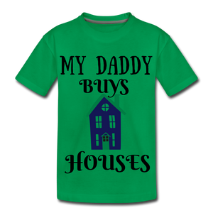 DADDY BUYS COLLECTION Kids' Premium T-Shirt - kelly green