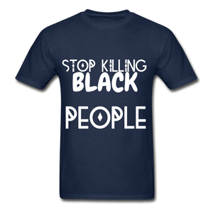 BLACK LIVES MATTER  T-Shirt - navy