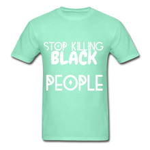 Load image into Gallery viewer, BLACK LIVES MATTER  T-Shirt - deep mint