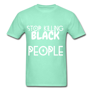 BLACK LIVES MATTER  T-Shirt - deep mint
