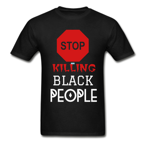 BLACK LIVES MATTER Hanes Adult Tagless T-Shirt - black