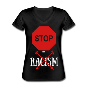 Women's V-Neck T-Shirt - black