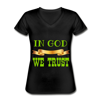 FAITH COLLECTION Women's V-Neck T-Shirt - black